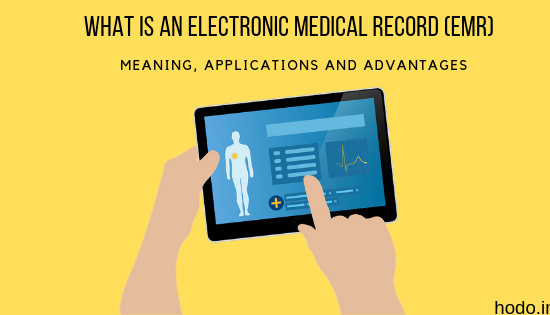 emr-A Finger pointing to an Electronic Medical Record