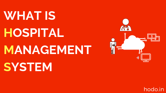 What is Hospital Management System - Red background